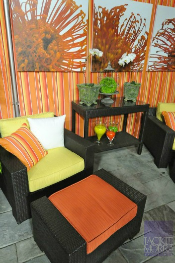orange outdoor furniture