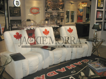 Hockey Fan Cave Seating