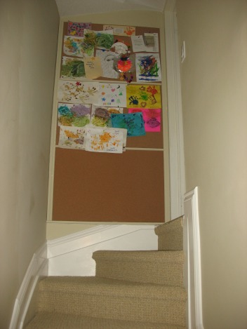 Basement-renovation-Artwork-Display-kids