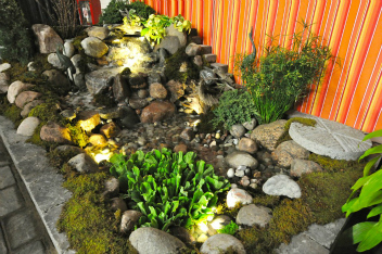 Outdoor Oasis Pondless Waterfall