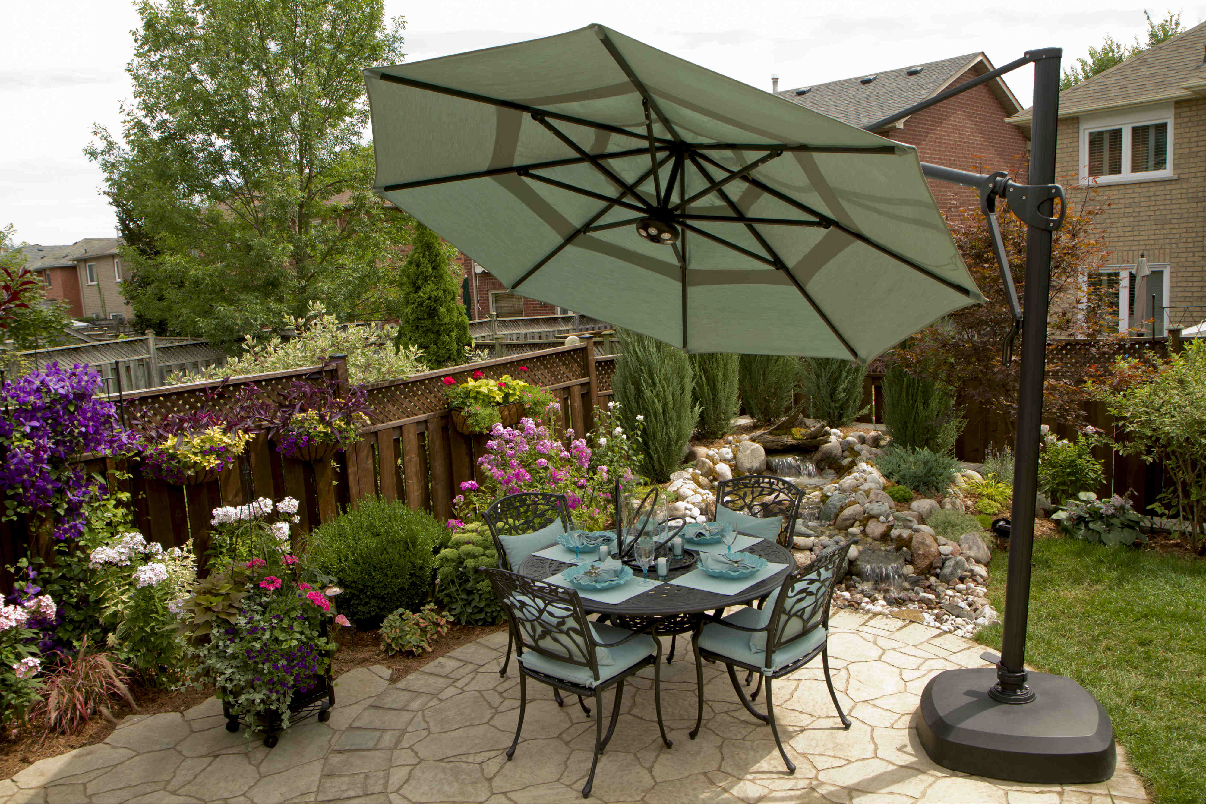 Backyard Patio Area Umbrella Web