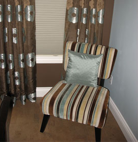 Bedroom Chair Stripes